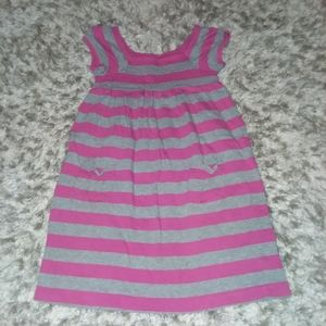 Girls pink and gray dress